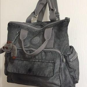 Kipling Alvy Convertible Tote Backpack Gray